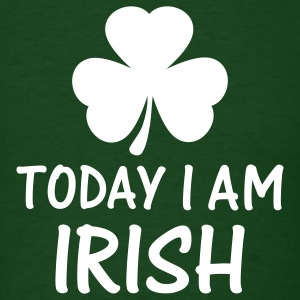 Forest green today i am irish T-Shirts - Men's T-Shirt