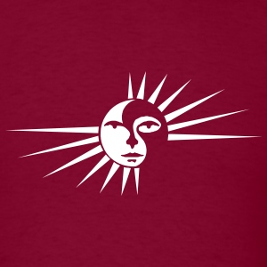 SUN Burgundy - Men's T-Shirt