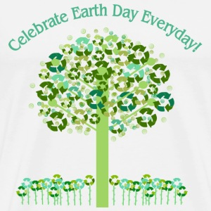 White Celebrate Earth Day Everyday T-Shirts - Men's Premium T-Shirt