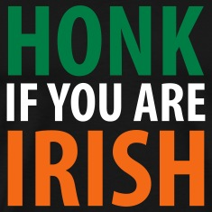 Black honk if you are irish T-Shirts