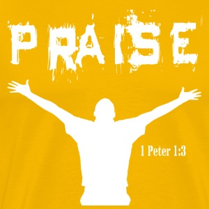 Praise -Yellow - Men's Premium T-Shirt