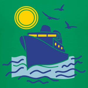 Kelly green cruise_sea_boat_sailing Kids Shirts - Kids' Premium T-Shirt