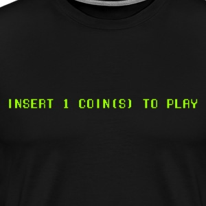1 player only green - Men's Premium T-Shirt