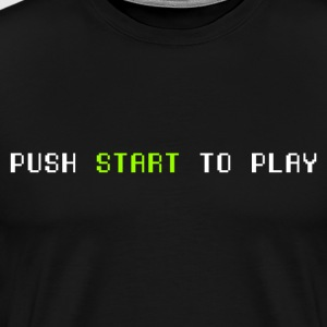 push start white - Men's Premium T-Shirt