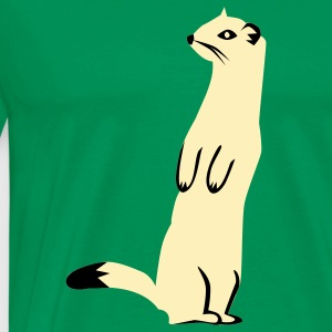 Bright green Weasel - Ermine T-Shirts - Men's Premium T-Shirt