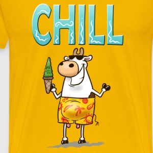 Yellow Chill Cow T-Shirts - Men's Premium T-Shirt
