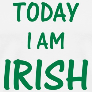 White today i am irish T-Shirts - Men's Premium T-Shirt