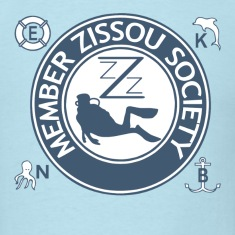 Sky blue Team Zissou Aquatic T-Shirts