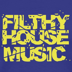 Royal blue Filthy House Music T-Shirts - Men's Premium T-Shirt