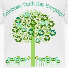 White Celebrate Earth Day Everyday Toddler Shirts