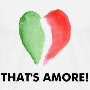 Natural ITALIAN LOVE T-Shirts - Men's Premium T-Shirt