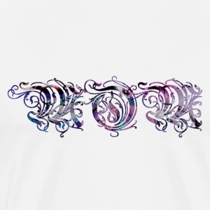 MOM (pretty purple script) - Men's Premium T-Shirt