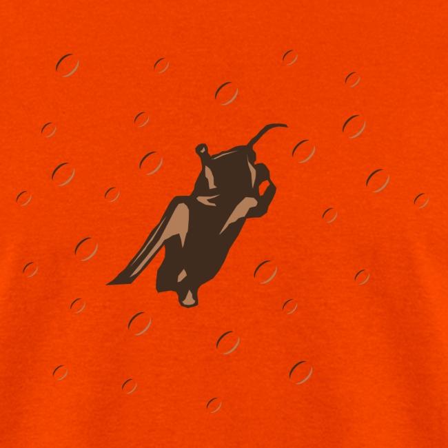 Space Bat Hangs On Heavyweight Mens Tee