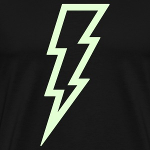 Lightning T Shirt (Glow in the Dark) - Men's Premium T-Shirt