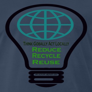 Navy reduce_recycle_reuse T-Shirts - Men's Premium T-Shirt