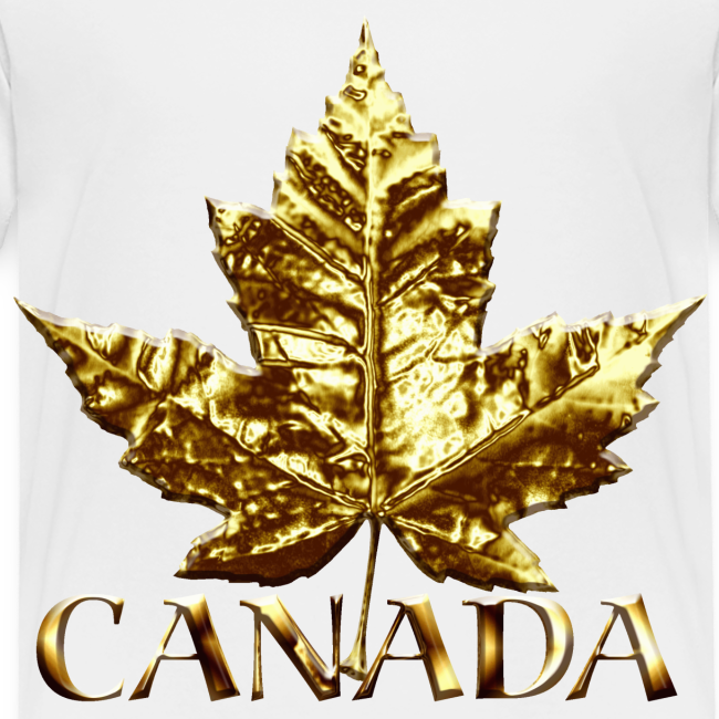 Toddler Canada T-shirt Baby Toddler Gold Maple Leaf Canada Souvenir Tee