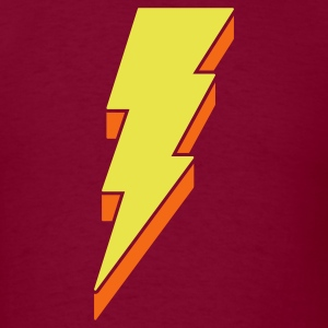 Lightning Bolt T Shirts - 3-D - Men's T-Shirt