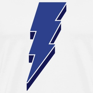 Lightning Bolt - 3-D T Shirts - Men's Premium T-Shirt