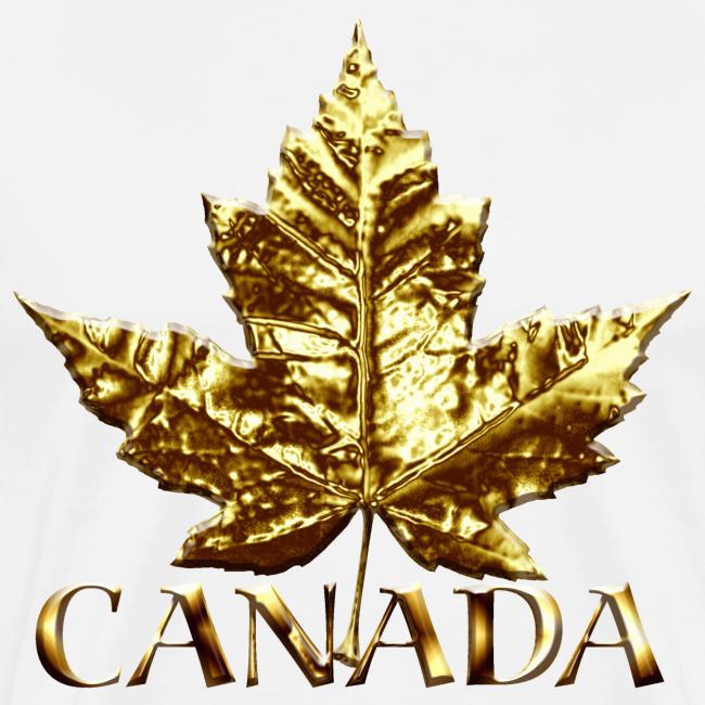 Canada Mens XXXL T-shirt Gold Maple Leaf Canada Souvenir XXXL T-shirt