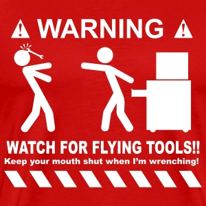 Watch For Flying Tools - Men's Premium T-Shirt