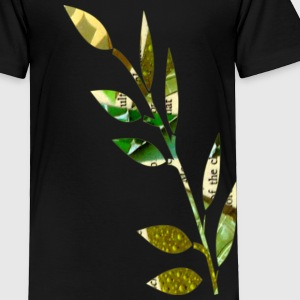 Black COLLAGE FERN Toddler Shirts - Toddler Premium T-Shirt