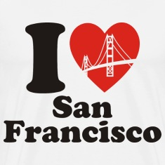Natural I Love San Francisco T-Shirts