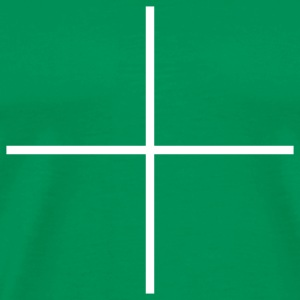 Bright green cross T-Shirts - Men's Premium T-Shirt
