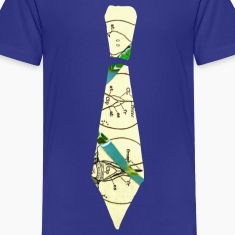 Royal blue VINTAGE TIE Kids Shirts