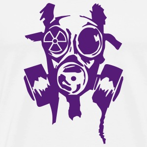 Natural bad_gasmask_radioactiv3 T-Shirts - Men's Premium T-Shirt