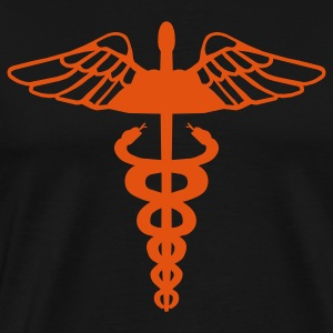 Black Caduceus T-Shirts - Men's Premium T-Shirt