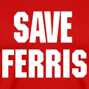 Red save_ferris_trans_eps T-Shirts - Men's Premium T-Shirt