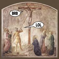 Design ~ Crucified Jesus: BRB. Roman Soldier: LOL.