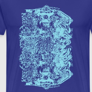 Royal blue Cool Baby Blue Graffiti Design T-Shirts - Men's Premium T-Shirt
