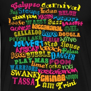 Black Trini wording T-Shirts - Men's Premium T-Shirt