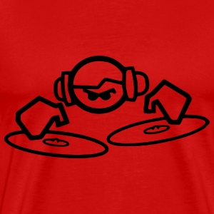 Red Vinyl DJ T-Shirts - Men's Premium T-Shirt