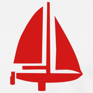 White Sailing Boat T-Shirts - Men's Premium T-Shirt
