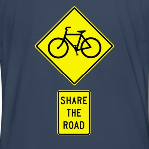 Navy Share The Road (Yellow) T-Shirts - Men's Premium T-Shirt
