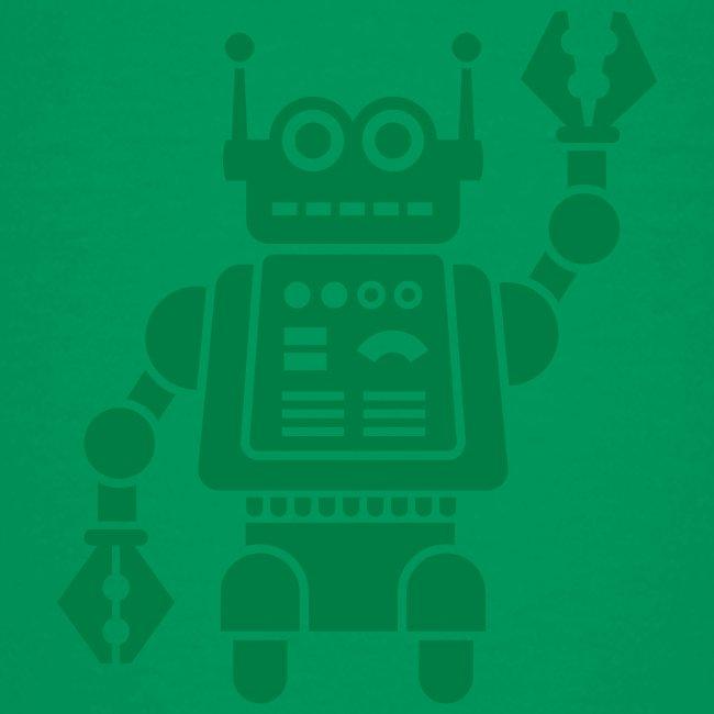 Friendly Robot [dk grn on grn]