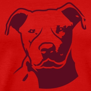 Red pitbull_head_front T-Shirts - Men's Premium T-Shirt