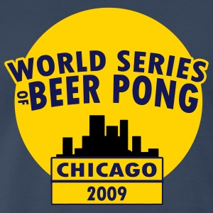 Navy Beer Pong T-Shirts - Men's Premium T-Shirt