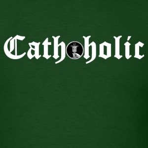 Forest green cathoholic2 T-Shirts - Men's T-Shirt