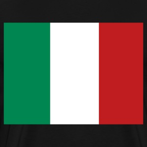 Black Italian Flag T-Shirts - Men's Premium T-Shirt