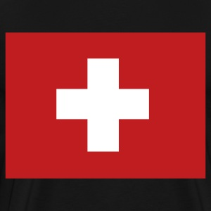 Black Swiss Flag T-Shirts - Men's Premium T-Shirt
