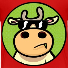 Red Cool Cow Toddler Shirts