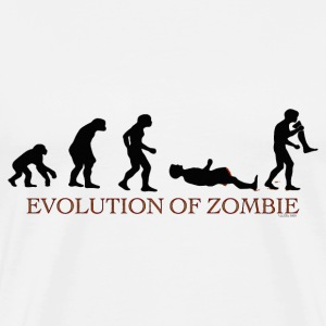 Evolution of Zombie - Men's Premium T-Shirt