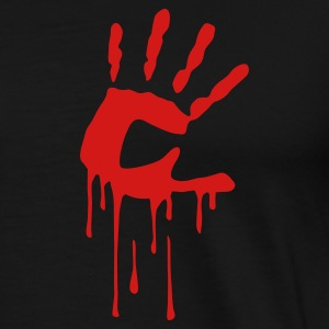 Black bloodhand T-Shirts - Men's Premium T-Shirt