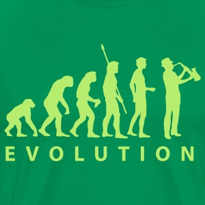Forest green evolution_saxophon T-Shirts - Men's Premium T-Shirt