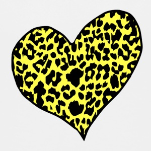 White cheetah heart yellow Toddler Shirts - Toddler Premium T-Shirt