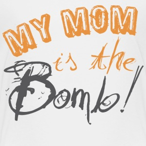 White my_mom_is_the_bomb Toddler Shirts - Toddler Premium T-Shirt