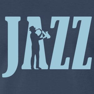 Navy jazz_2 T-Shirts - Men's Premium T-Shirt